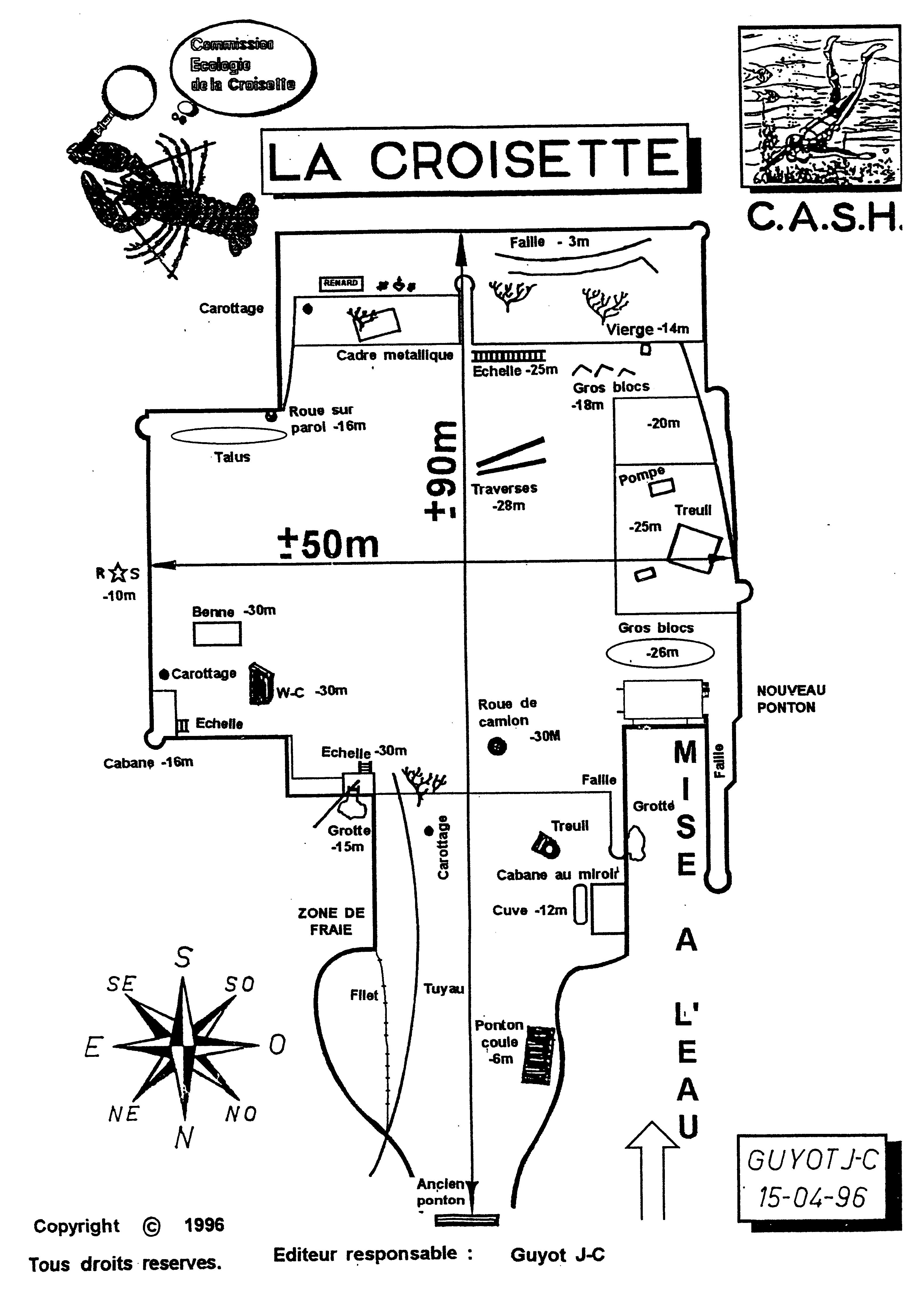 Plan de la croisette